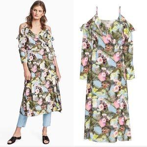 H&M Cold Shoulder Maxi Wrap Dress